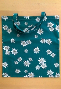 Stoff Einkaufstasche (100%  BW) grün