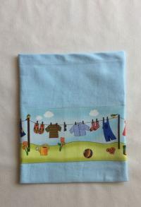 Chlämmerlisack himmelblau mit Wäscheleine