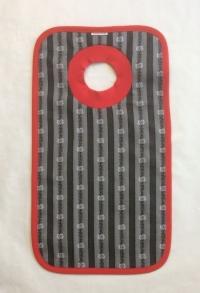 Edelweiss Schlupf-Lätzchen grau/schwarz