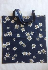 Stoff Einkaufstasche dunkelblau