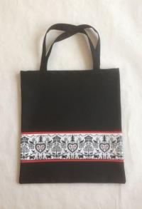 Stoff Einkaufstasche im Scherenschnittlook