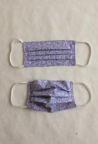 Gesichtsmaske lila Blümchenmuster für Erwachsene