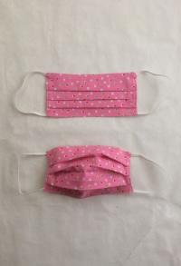 Gesichtsmaske rosa mit Punkten für Erwachsene