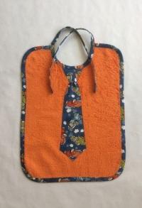 Krawatten Lätzchen Oldtimer orange