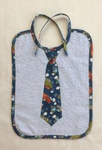 Krawatten Lätzchen Oldtimer hellblau