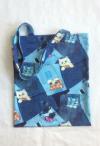 einfache Einkaufstasche im Jeanslook mit Kätzchen