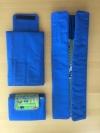 Spieldecke für unterwegs Farbe blau/grün
