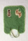 grosses Bindelätzchen grün mit Hunden