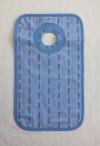 Edelweiss Schlupf-Lätzchen hellblau