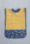 Schlupf-Lätzchen gelb mit Baufahrzeugen