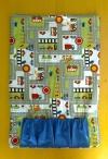 Spieldecke für unterwegs Farbe blau-weiss-kiwigrün