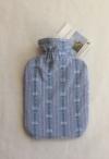 Wärmeflasche mit Edelweiss-Überzug (waschbar)